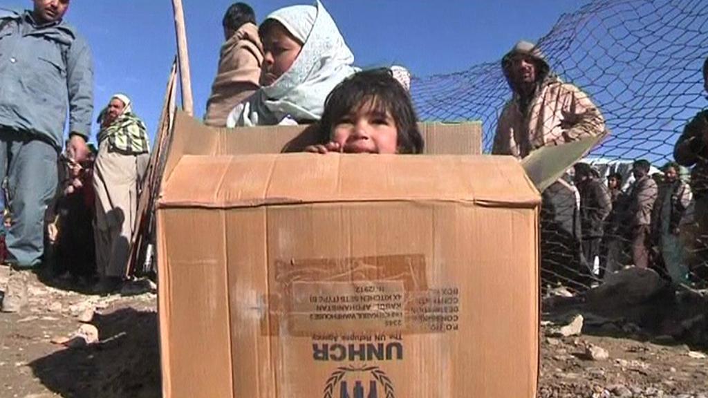 Zima v afghánském uprchlickém táboře