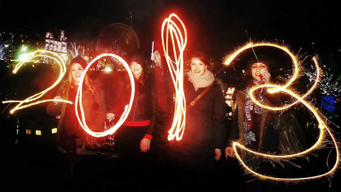 Vítání roku 2013 v Newcastlu