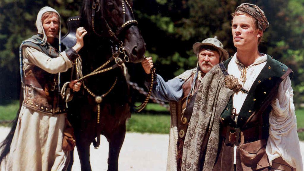 Potůček (Vladimír Javorský), Potok (Ota Jirák) a princ (Jakub Prachař)