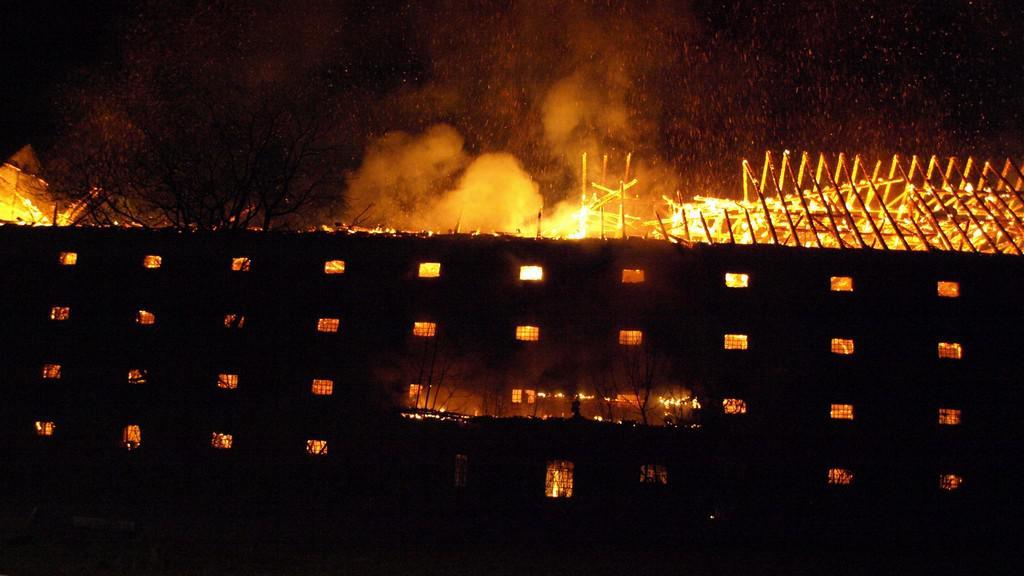 Požár sila na Hodonínsku