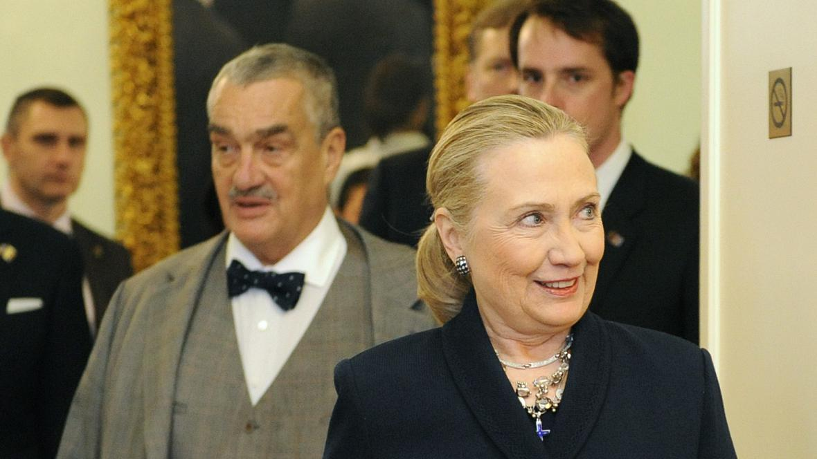 Hillary Clintonová s Karlem Schwarzenbergem