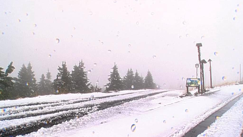 První sníh v Jeseníkách