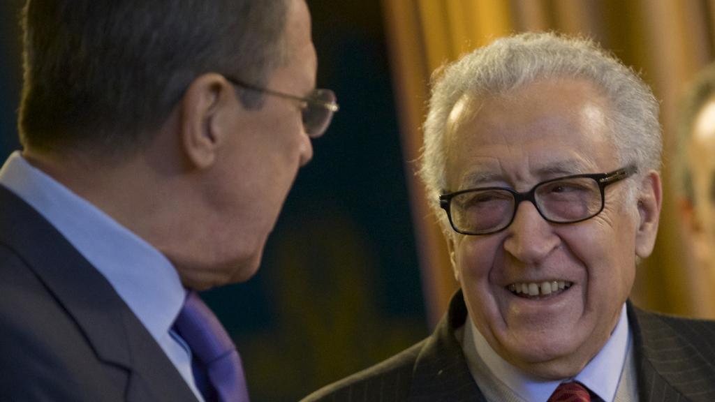 Sergej Lavrov s Lachdarem Brahímím