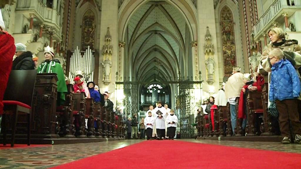 Mše v olomoucké katedrále