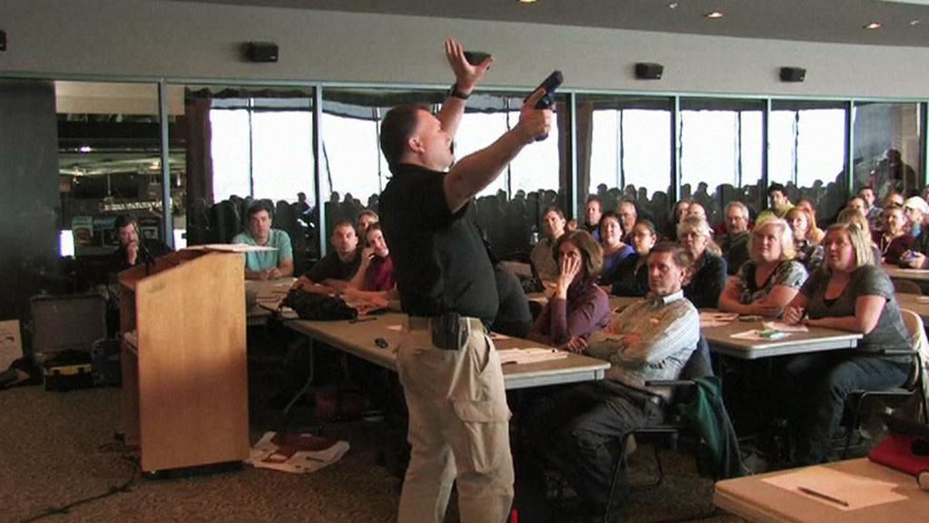 Střelecká instruktáž pro učitele v Utahu