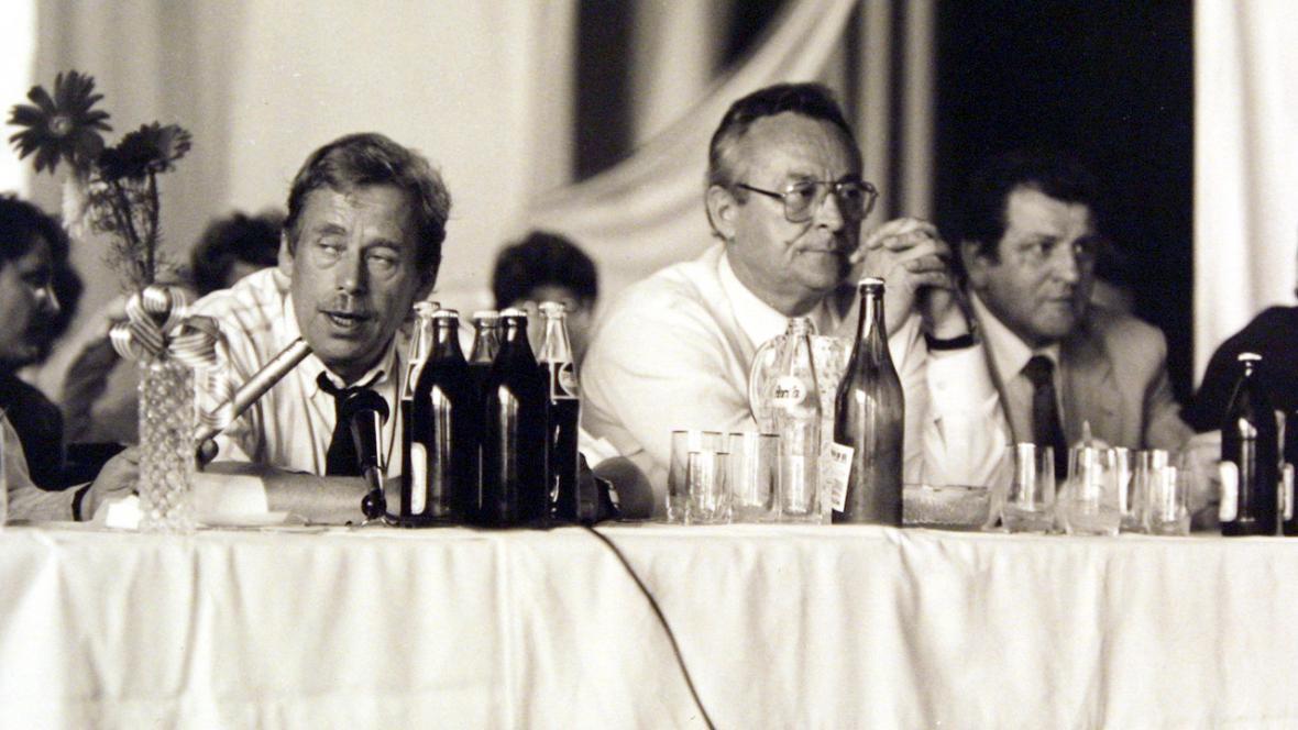 Václav Havel, Ivan Kočárník a Vladimír Mečiar