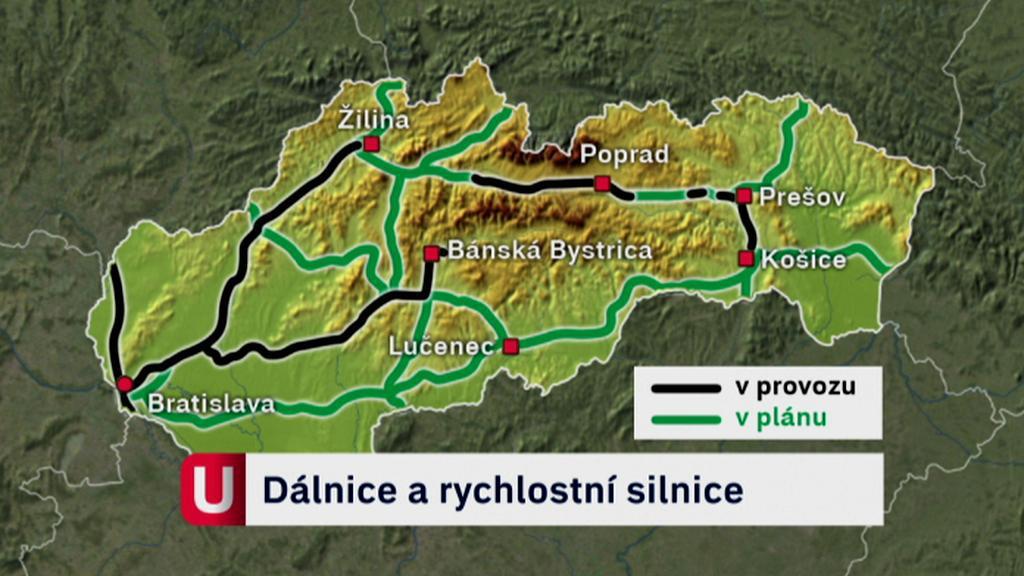 Plánovaná výstavba dálnic na Slovensku