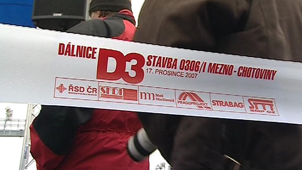 Slavnostní otevření úseku dálnice D3