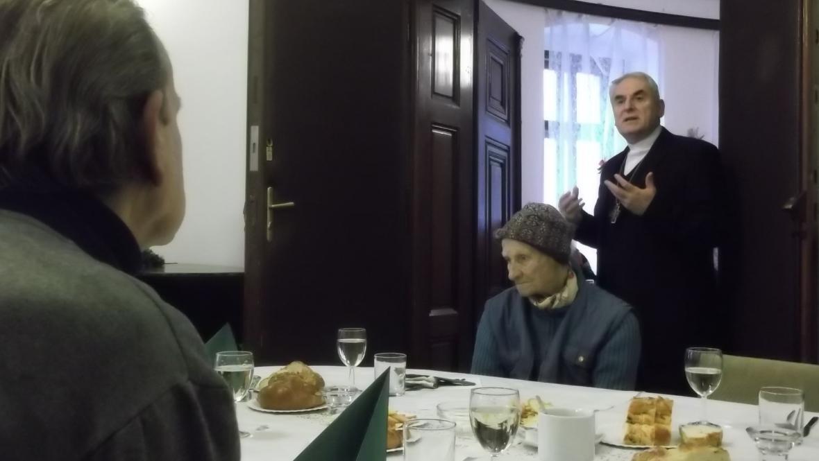 Dobročinnou akci navštívil také biskup Vojtěch Cikrle