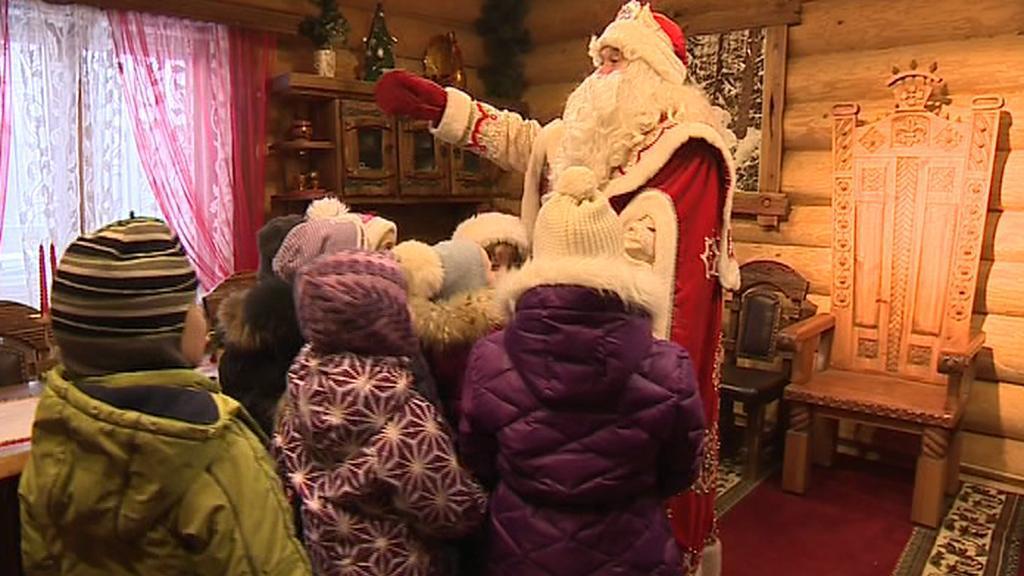 Děda Mráz na setkání s dětmi