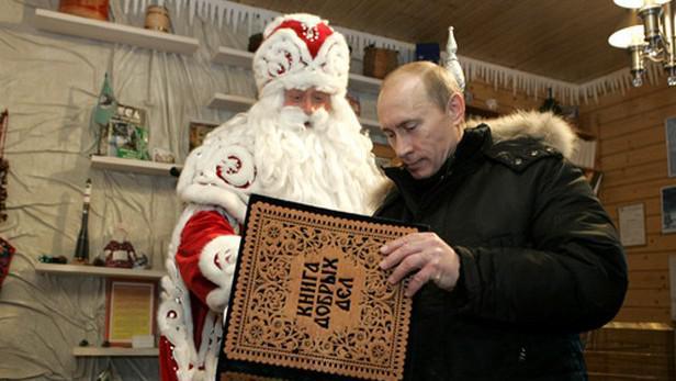 Vladimir Putin a Děda Mráz