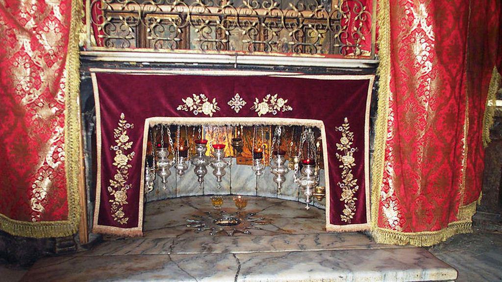 Krypta basiliky Narození Páně v Betlémě - místo narození Ježíše