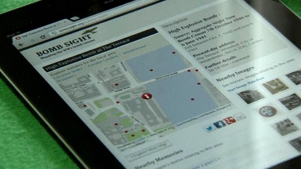 Mapa bombardování Londýna