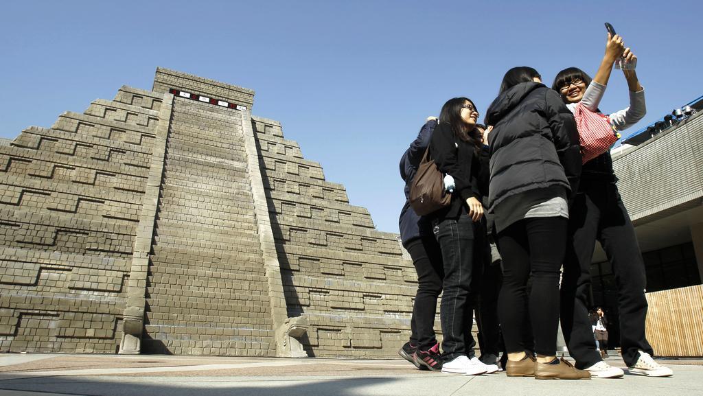 V Tchajwanu se lidé mohli vyfotit u zkonstruované mayské pyramidy