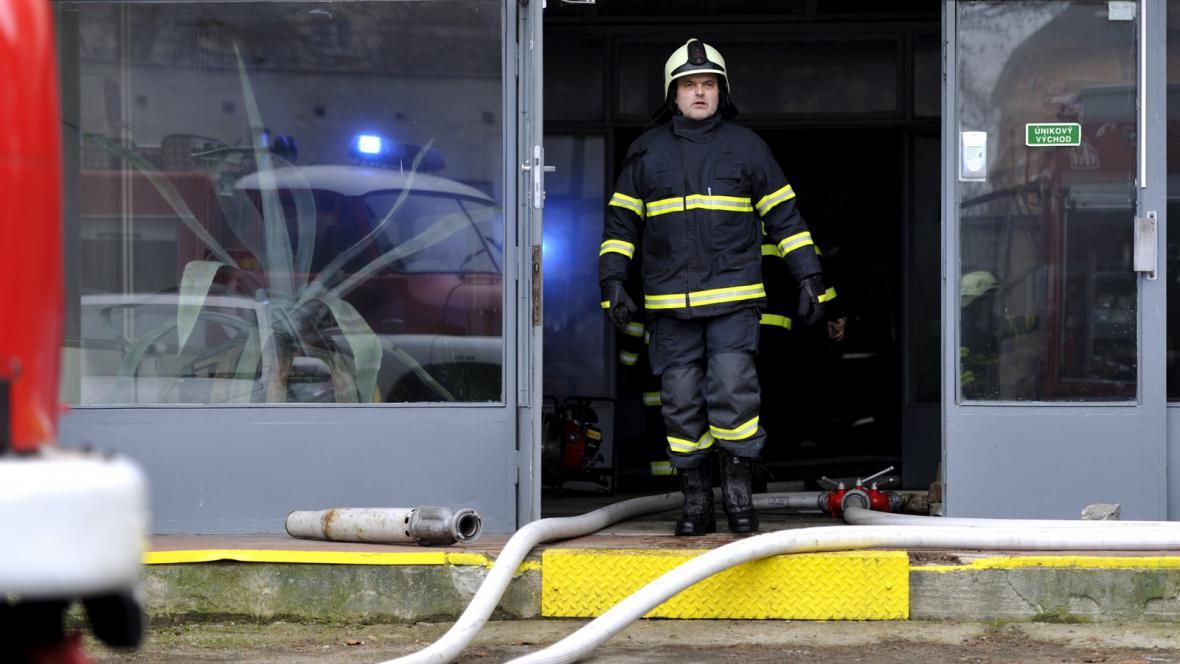 Požár tkalcovny Mileta