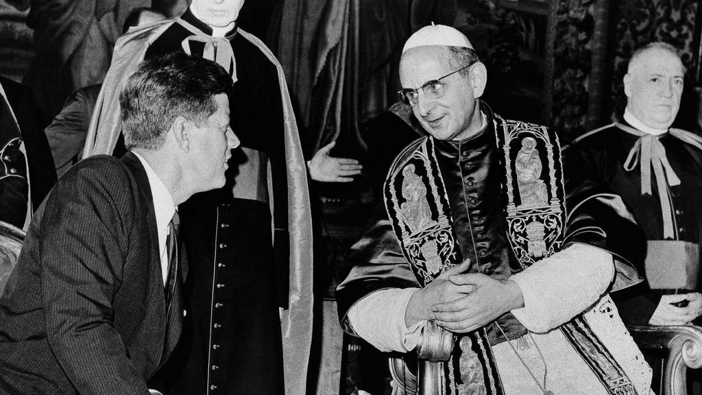 Pavel VI. s Johnem F. Kennedym