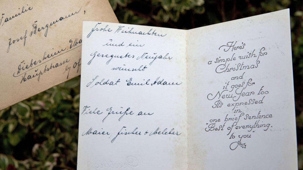 Po 71 letech dorazil domů dopis německého vojáka