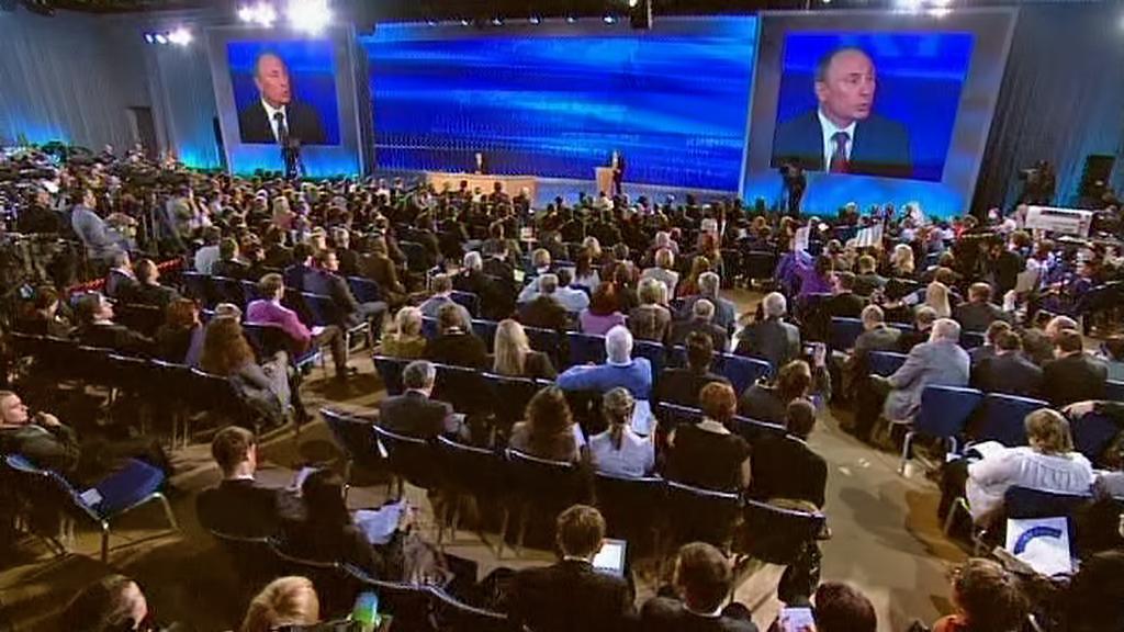Vladimir Putin na prosincové tiskové konferenci