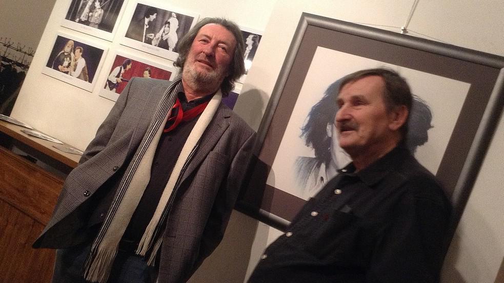 Bolek Polívka a Jef Kratochvil na vernisáži výstavy