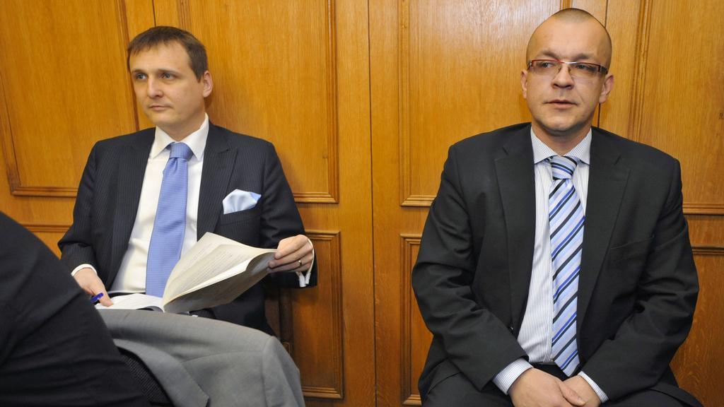 Vít Bárta a Jaroslav Škárka před soudem
