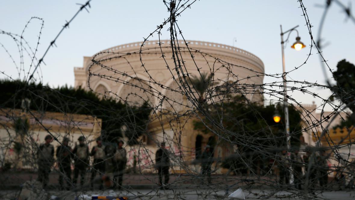 Prezidentský palác v Káhiře hlídá armáda