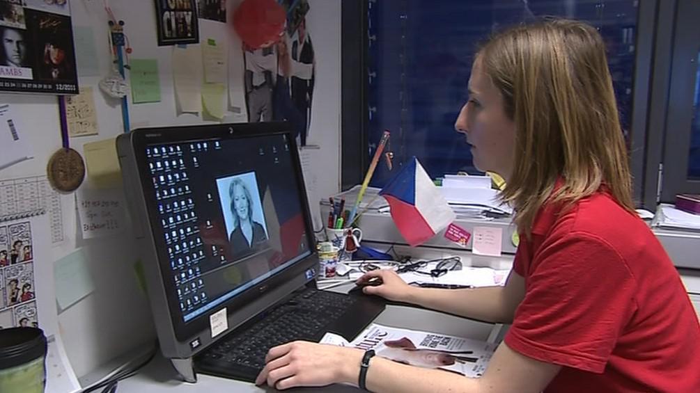 Veronika Altmannová při práci