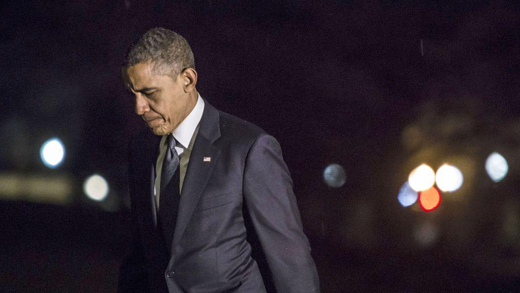 Barack Obama po setkání s pozůstalými obětí střelby v newtownské škole