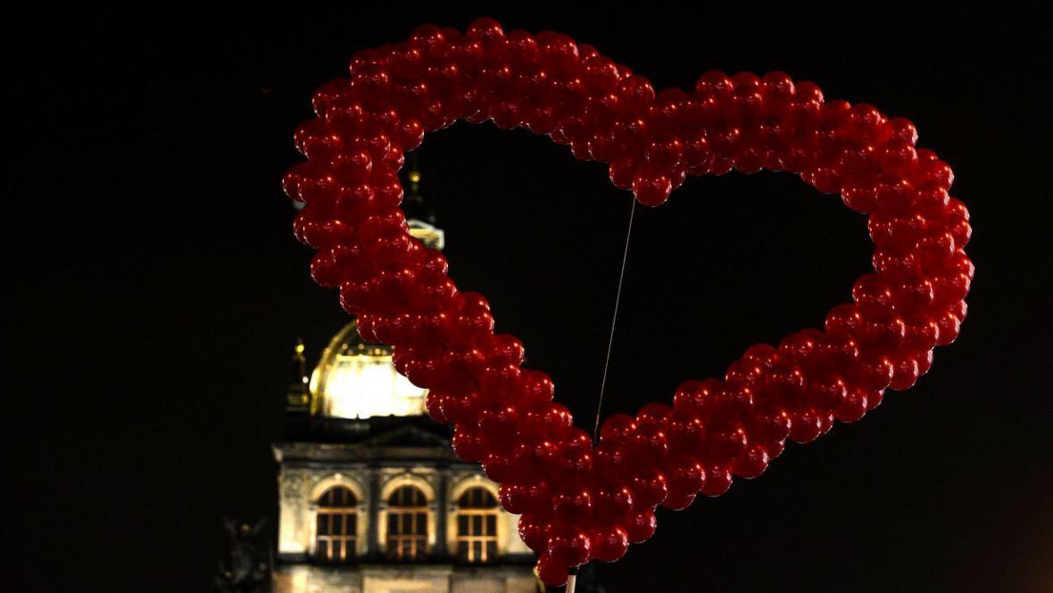 Vzpomínková akce na Václavském náměstí