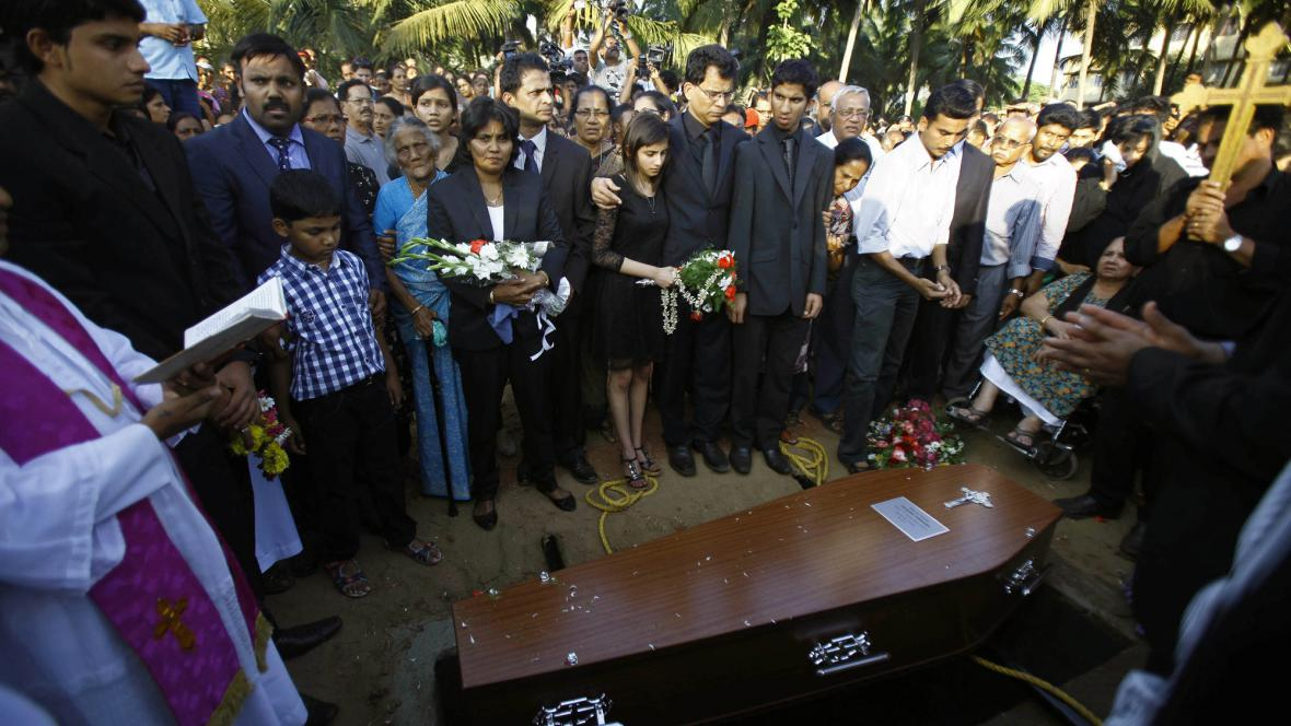 Pohřeb Jacinthy Saldanhaové