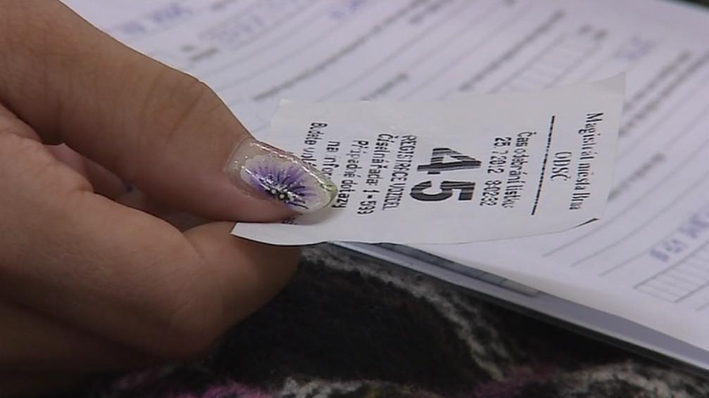 Pořadový lístek na registru vozidel