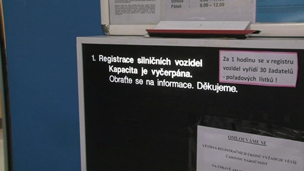 Registr je zavalen