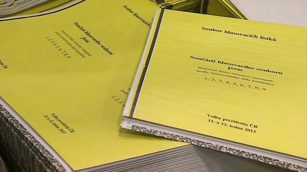 V Břeclavi tisknou lístky pro první přímou volbu prezidenta