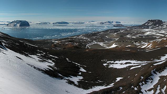 Okolí české vědecké stanice J. G. Mendela v Antarktidě
