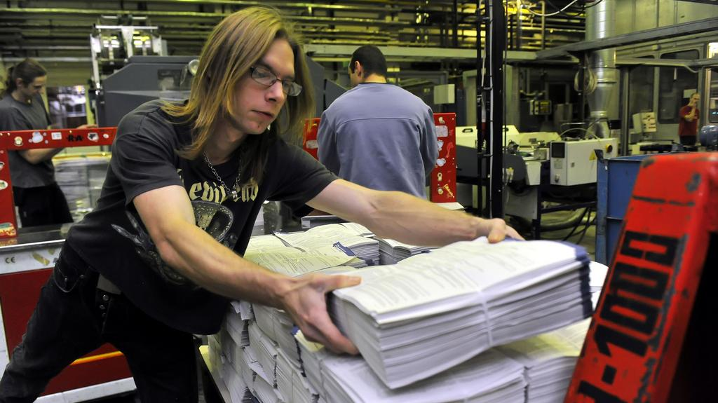 Tisk volebních lístků v břeclavské tiskárně