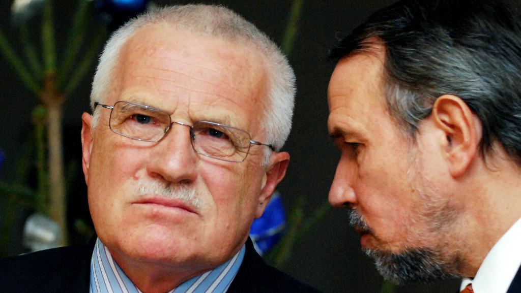 Václav Klaus s Petrem Hájkem