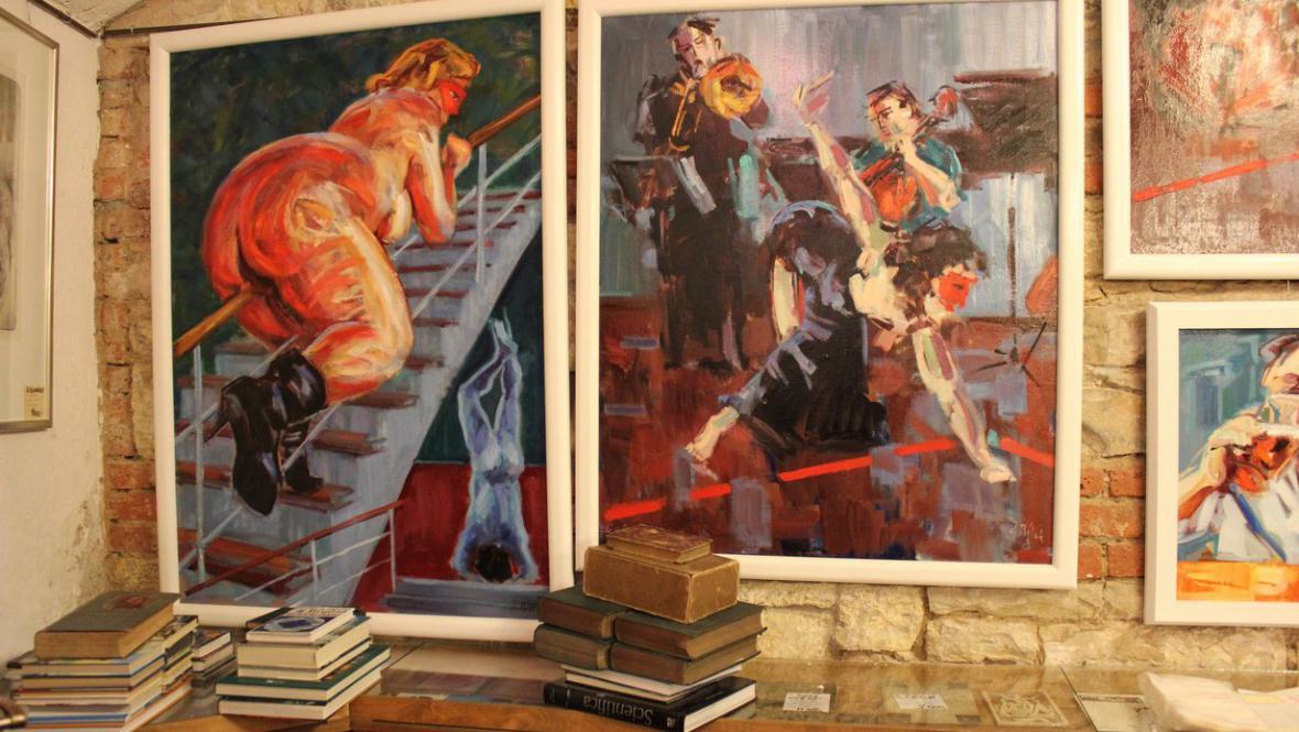 Výstava Jindřicha Bílka v Prvním podzemním antikvariátu