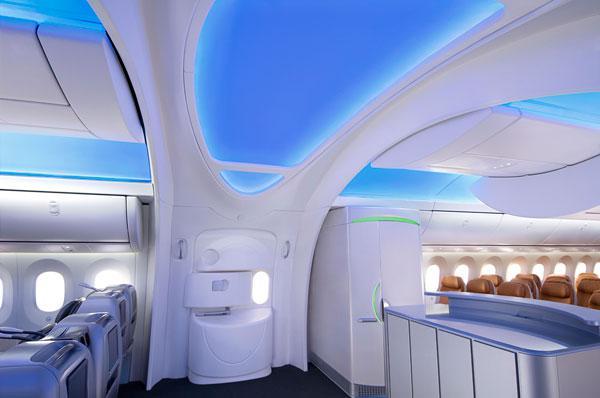 Boeing - Dreamliner - interiér