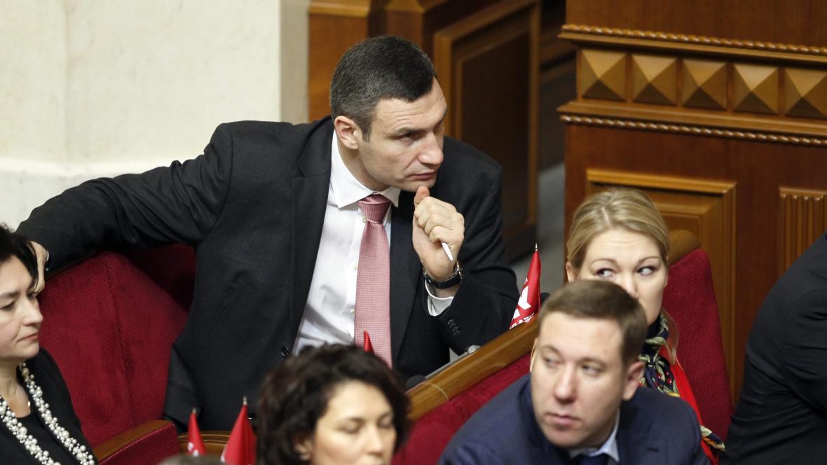 Vitalij Kličko v parlamentu