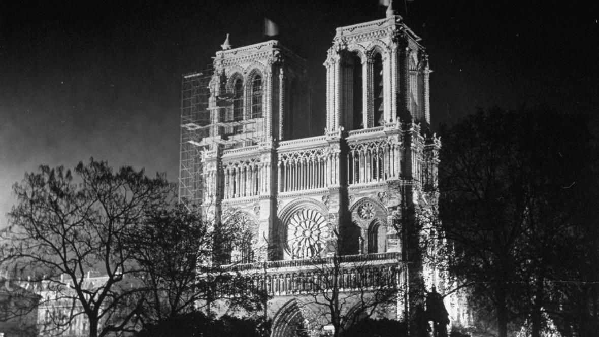 Notre-Dame v roce 1946