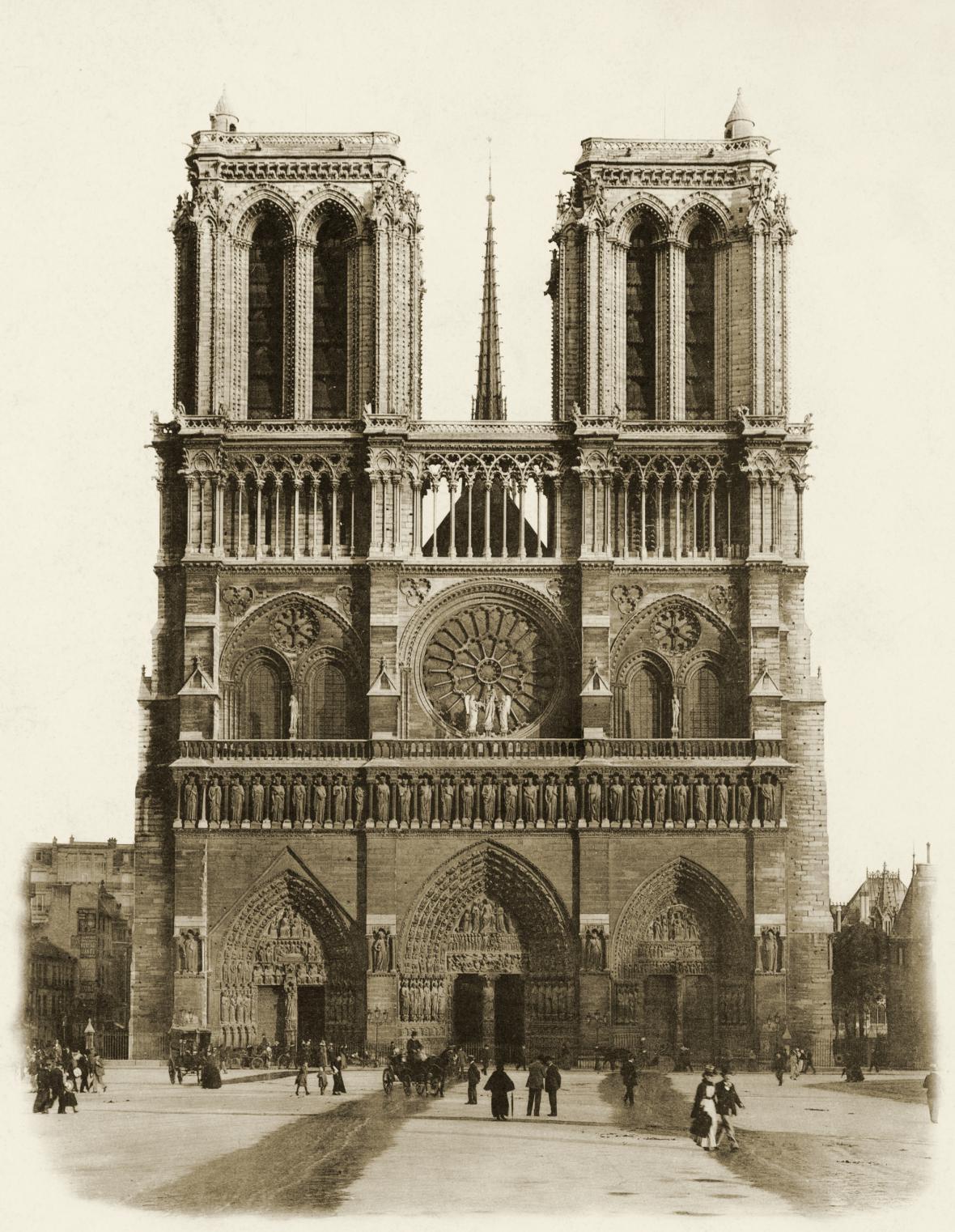 Notre-Dame koncem 19. století
