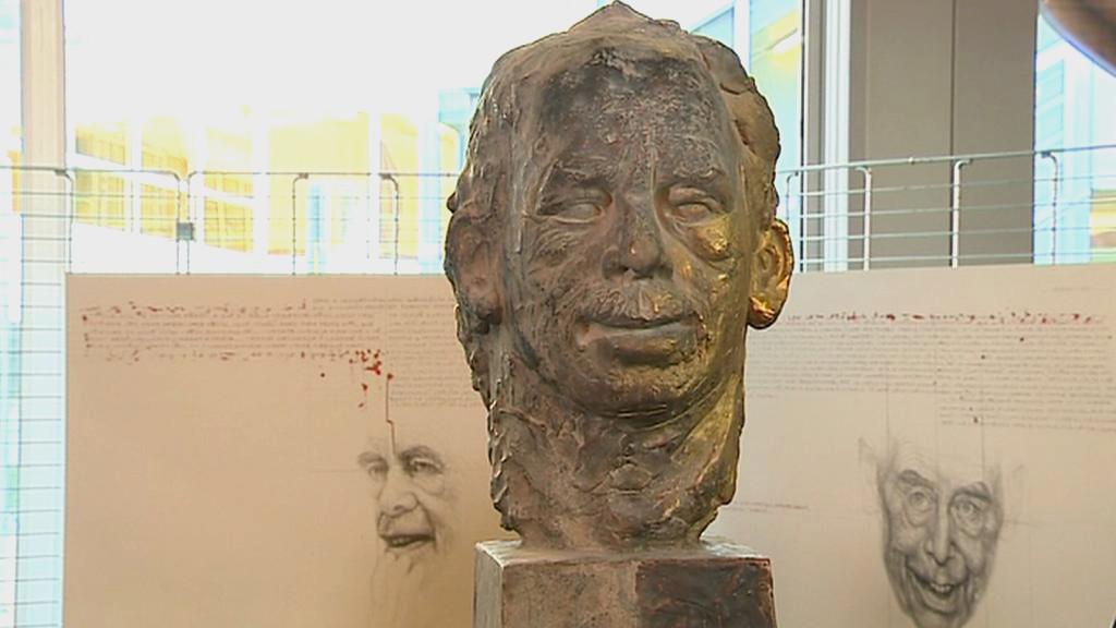 Busta Václava Havla v Evropském parlamentu