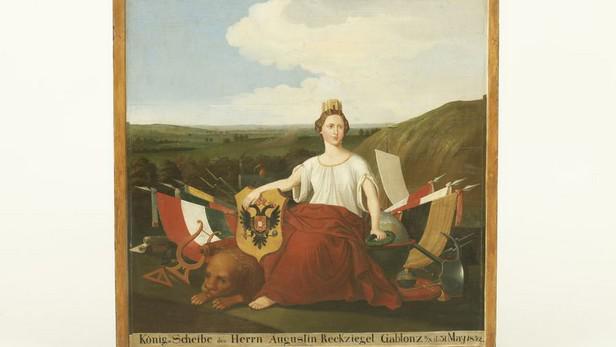 Monarchie / střelecký terč (1852)