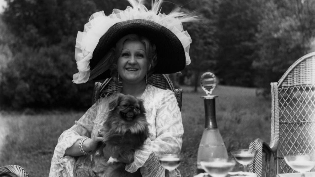 Antonie Hegerlíková při natáčení filmu Slečna Golem, 1972