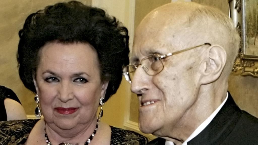 Galina Višněvská s manželem Mstislavem Rostropovičem