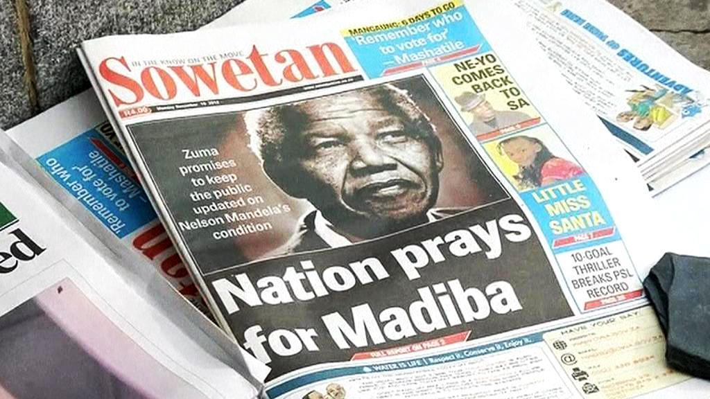 Jihoafrický tisk o Nelsonu Mandelovi