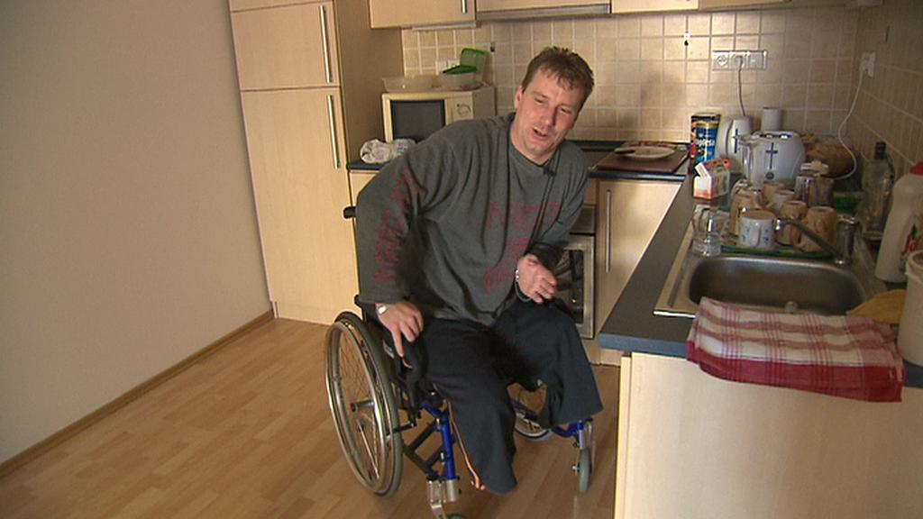 Petr Částka na vozíku