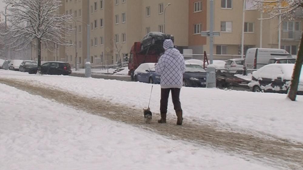 Agresivní sůl ve městech ničí boty, auta i omítky