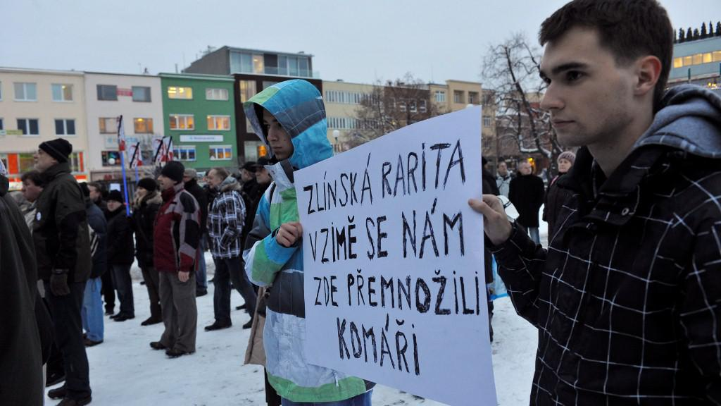 Demonstrace ve Zlíně