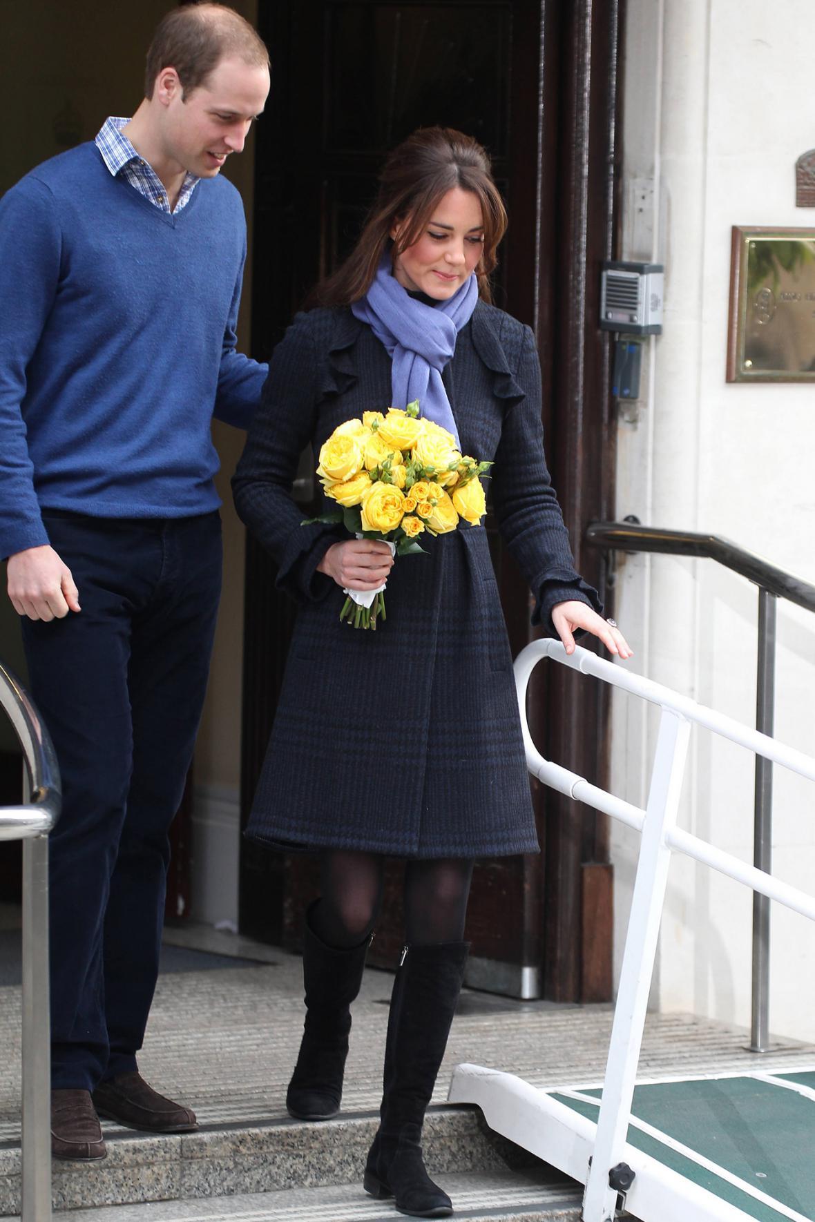 Kate po čtyřech dnech opustila nemocnici