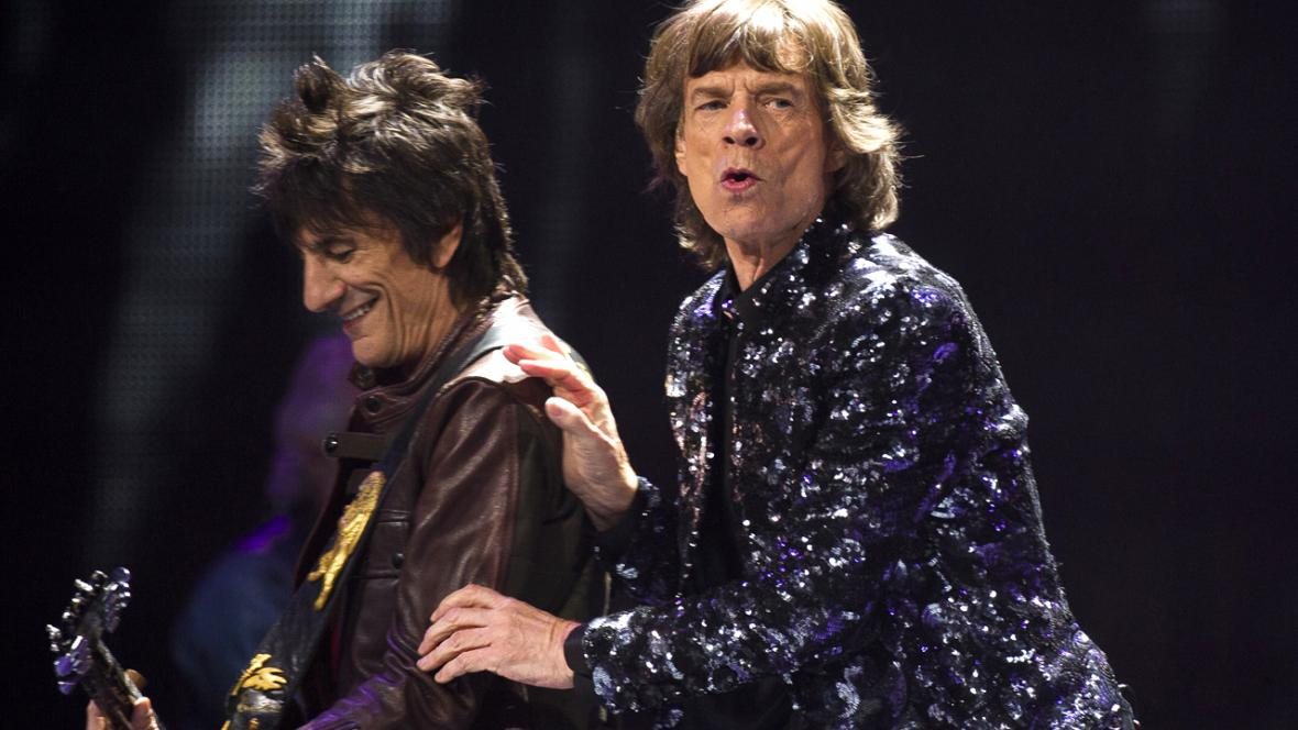 Ronnie Woods a Mick Jagger